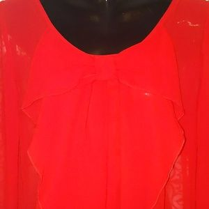 A. Byer Tops - Sheer Red Blouse
